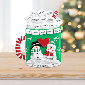 Mug of Cocoa with Marshmallows Tabletop Ornament