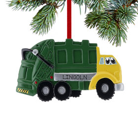 Garbage Truck with Eyes Ornament