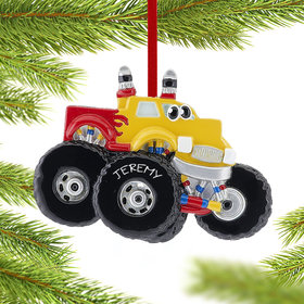 Monster Truck with Eyes Ornament