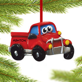 Pickup Truck with Eyes Ornament