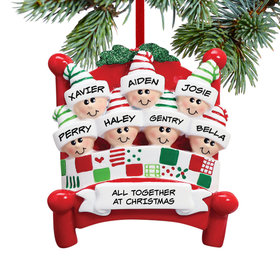 Bed Family 7 Ornament