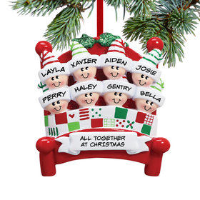 Bed Family 8 Ornament