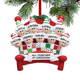 Bed Family 9 Ornament