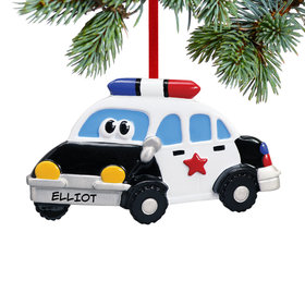 Police Car with Eyes Ornament