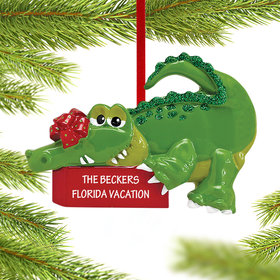 Green Alligator Ornament