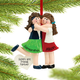 Two Friends or Sisters Ornament