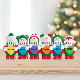 Lights Tabletop Family of 6 Ornament