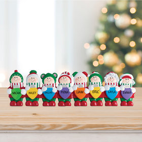 Lights Tabletop Family of 8 Ornament