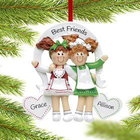 Friends or Sisters with Hearts Ornament