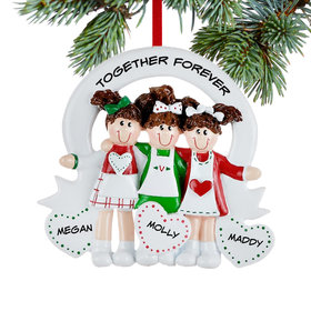 Friends or Sisters with Hearts 3 Ornament