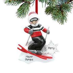 Boy Skier with Goggles Ornament