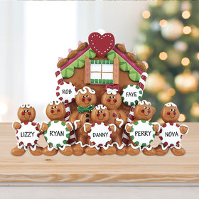Family of 7 Gingerbread House Table