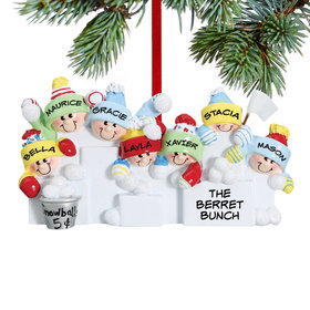 Snowball Fight 7 Ornament