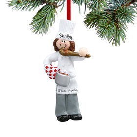 Female Chef with Tasting Spoon Ornament