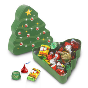 Christmas Tree Box 1/2lb Hershey's Holiday Mix Box