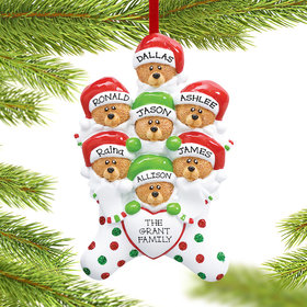 Stocking Bears 7 Ornament