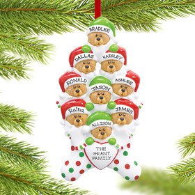 Stocking Bears 9 Ornament
