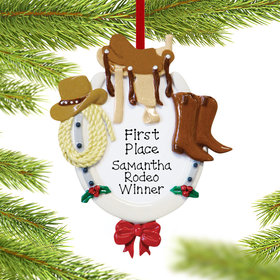 Western Horse Rider Ornament