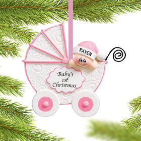 Baby Buggy 1st Girl Ornament