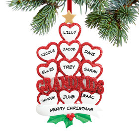 Grandkids Hearts 10 Ornament