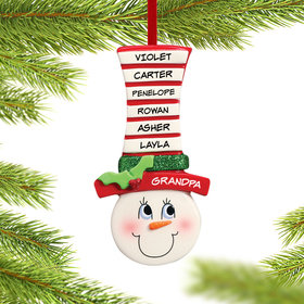 Snowman Face Up to 6 Names Ornament
