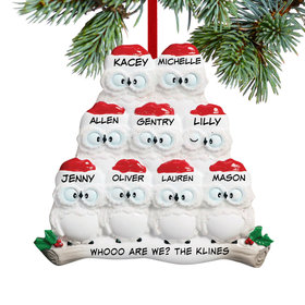 Wise Owl Family of 9 Ornament