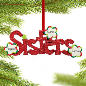 Sisters Word for 2 or 3 sisters Ornament