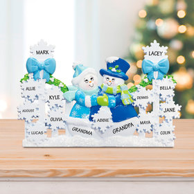 Snowflake Gate with 13 Snowflakes (Blue) Ornament