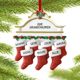 Stockings Hanging From Mantel 7 Ornament