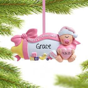 Baby's 1st Baby Bottle (Pink) Ornament