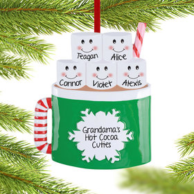 Marshmallow Mug Family of 5 Ornament
