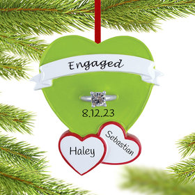 Engagement Ring in Heart Ornament
