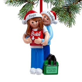 Baby on the Way Couple Ornament