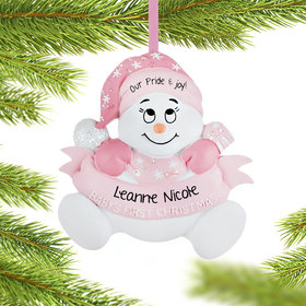 Snow Baby 1st Girl Ornament