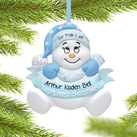 Snow Baby 1st Boy Ornament