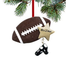 Football with Star and Cleats Ornament