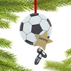 Soccer Star with Cleats Ornament