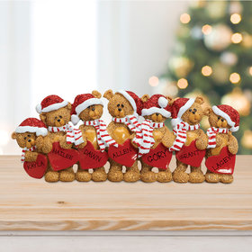 Bears With Hearts Family 7 Table Decoration Ornament