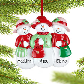 3 Sisters or Friends Wearing Hats Ornament