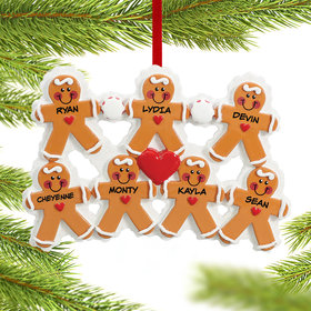 Gingerbread Family 7 Ornament