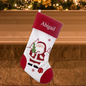 Red and White Stocking (Santa)