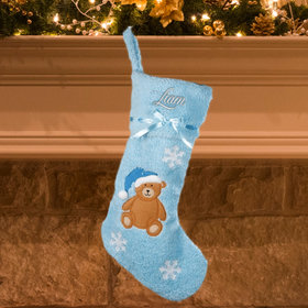 Boy Baby's First Christmas Stocking