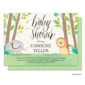 Bonnie Marcus Collection Personalized Safari Nursery Invitation