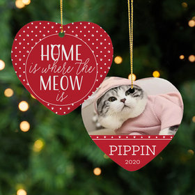 Cat 'Home is Where the Meow is' Ornament