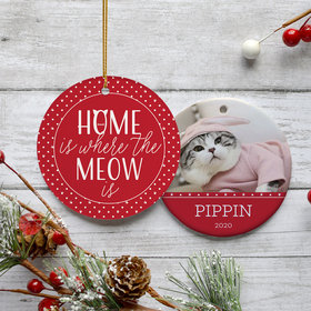 Home Is Where The Meow Is' Ornament