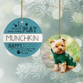Woof Play Good Dog' Ornament