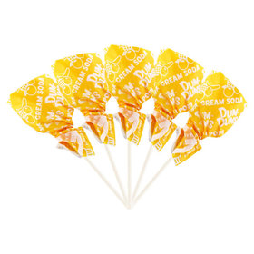 Cream Soda Dum Dums Yellow Party Pops