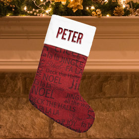 Personalized Stocking Word Cloud Christmas Words