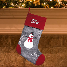 Personalized Stocking Cap Toe Snowman