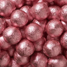 Light Pink Solid Milk Chocolate Foiled Balls